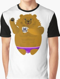 MORNING COFFEE BEAR! Graphic T-Shirt