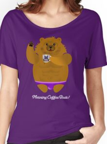MORNING COFFEE BEAR! Women's Relaxed Fit T-Shirt