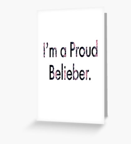 Justin Bieber Phone Case Greeting Card