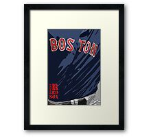 Boston Red Sox Original Typography Blue shirt Framed Print