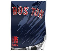 Boston Red Sox Original Typography Blue shirt Poster