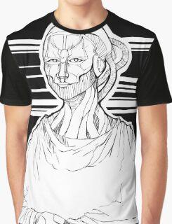 Mona Lisa Robot Graphic T-Shirt
