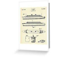Steamship-1937 Greeting Card