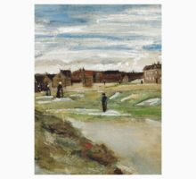 1882-Vincent van Gogh-Bleaching Ground at Scheveningen-32x54 Kids Tee