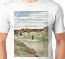 1882-Vincent van Gogh-Bleaching Ground at Scheveningen-32x54 Unisex T-Shirt