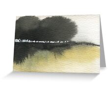 Dark Trees Watercolour Landscape Greeting Card