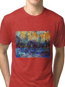 Color study after Signac, 90-70cm, oil on paper Tri-blend T-Shirt