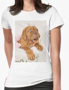 Dogue De Bordeaux Princess Puppy Womens Fitted T-Shirt