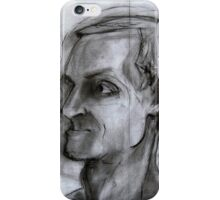 Human figure study nr2, 90-95cm, charcoal iPhone Case/Skin