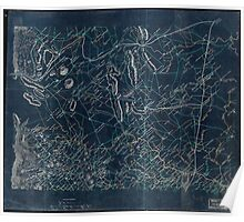029  Map of parts of Fauquier Prince William and Rappahannock counties Va Inverted Poster