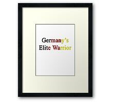 Germany's Elite Warrior  Framed Print