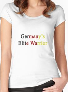 Germany's Elite Warrior  Women's Fitted Scoop T-Shirt