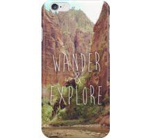 Wander&Explore iPhone Case/Skin