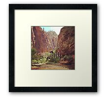 Wander&Explore Framed Print