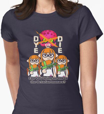 Splatoon - Dye or Die Womens Fitted T-Shirt