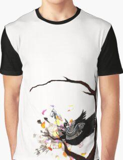 Sitting Raven Graphic T-Shirt
