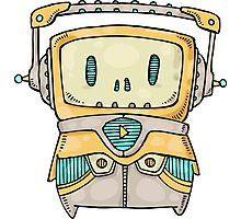 Cute Robot Photographic Print
