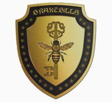 Small gold Brakebills Crest Baby Tee