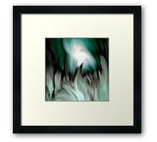 abstract green by rafi talby Framed Print