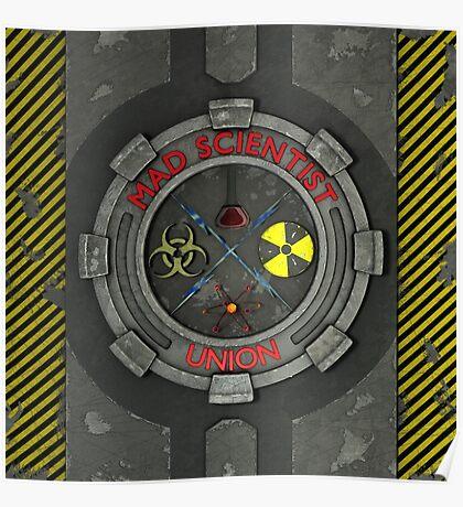 Mad Scientist Union Logo 3D Poster