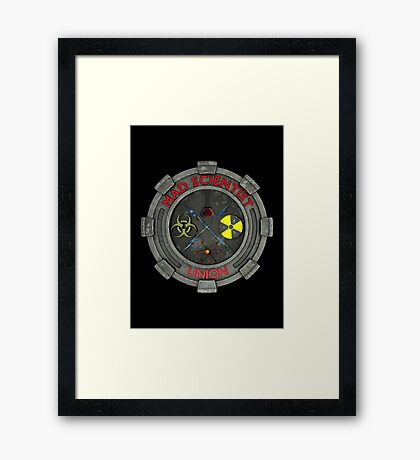 Mad Scientist Union Logo 3D Framed Print