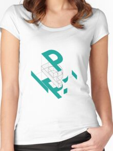 Exploded View of a 'P' Women's Fitted Scoop T-Shirt