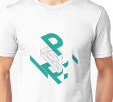 Exploded View of a 'P' Unisex T-Shirt