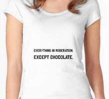 Except Chocolate Women's Fitted Scoop T-Shirt