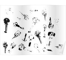 Printed Keys Poster
