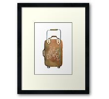 Cute suitcase Framed Print