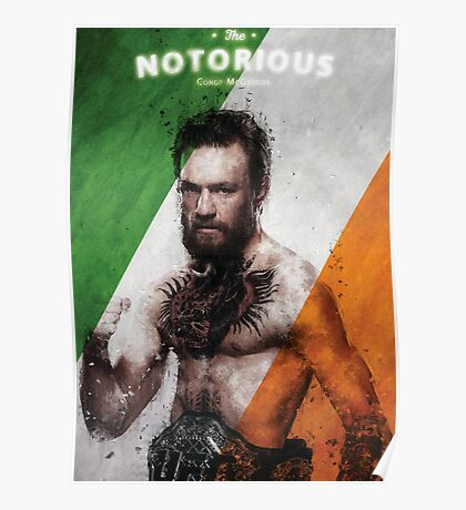 The Notorious - Conor McGregor Tri Colours Poster