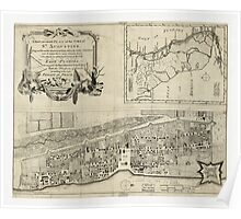 American Revolutionary War Era Maps 1750-1786 137 A new & accurate plan of the town of St Augustine Poster