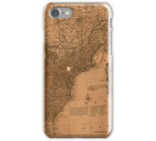 American Revolutionary War Era Maps 1750-1786 350 Bowles's new pocket map of the United States of America the British possessions of Canada Nova Scotia and iPhone Case/Skin