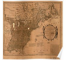 American Revolutionary War Era Maps 1750-1786 350 Bowles's new pocket map of the United States of America the British possessions of Canada Nova Scotia and Poster