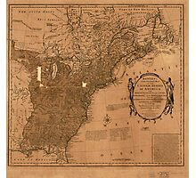 American Revolutionary War Era Maps 1750-1786 350 Bowles's new pocket map of the United States of America the British possessions of Canada Nova Scotia and Photographic Print