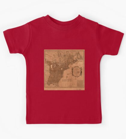 American Revolutionary War Era Maps 1750-1786 350 Bowles's new pocket map of the United States of America the British possessions of Canada Nova Scotia and Kids Tee