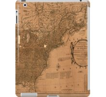American Revolutionary War Era Maps 1750-1786 350 Bowles's new pocket map of the United States of America the British possessions of Canada Nova Scotia and iPad Case/Skin