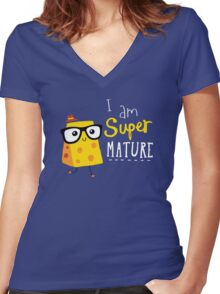 Super Mature Women's Fitted V-Neck T-Shirt