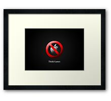 [Videogame] Think Gamer Framed Print