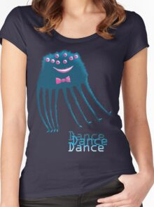 Techno Dance Disco Spider Women's Fitted Scoop T-Shirt