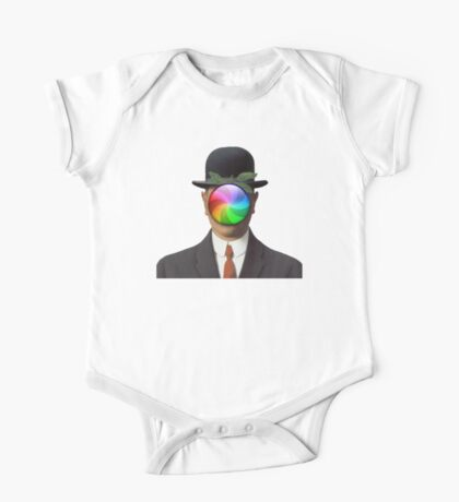 the son of a man magritte surrealism 1900, Apple One Piece - Short Sleeve
