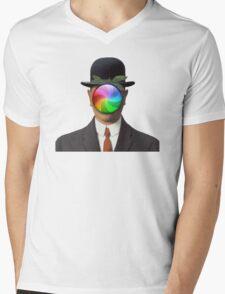 the son of a man magritte surrealism 1900, Apple Mens V-Neck T-Shirt