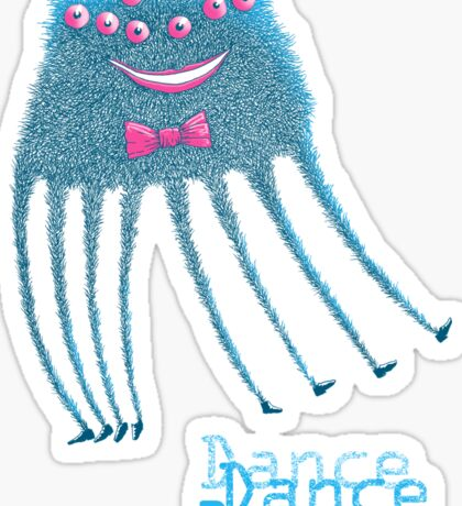 Techno Dance Disco Spider Sticker