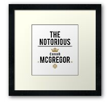 Notorious McGregor | v2 Framed Print