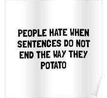 Sentences Potato Poster