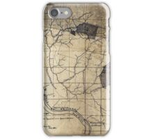 204 Map showing location c of Middleton coal lands Fayette County W Va iPhone Case/Skin