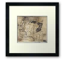 204 Map showing location c of Middleton coal lands Fayette County W Va Framed Print