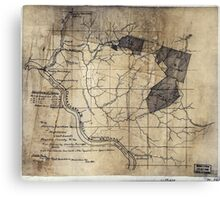 204 Map showing location c of Middleton coal lands Fayette County W Va Canvas Print