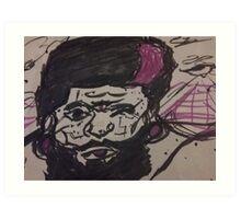 Purple pyramids and black beards Art Print