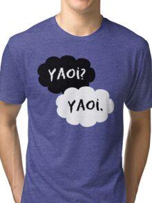 Yaoi? Yaoi. Tri-blend T-Shirt